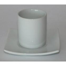 Tasse à café déco + sous tasse