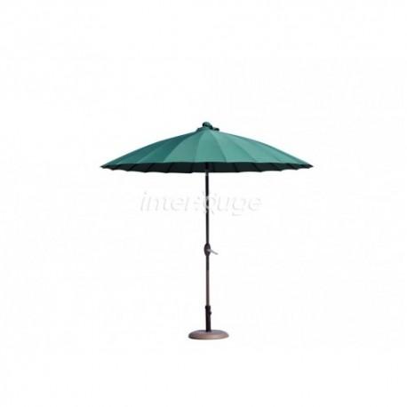 parasol ombrelle avec pied vert sapin location vaisselle reception. Black Bedroom Furniture Sets. Home Design Ideas