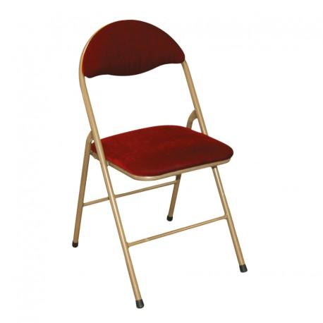Chaise pliante velours rouge et or location vaisselle - Chaise pliante rouge ...